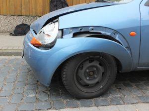 Auto nach Unfall